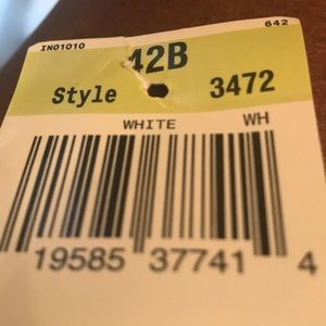 style 3472 Intimates & Sleepwear - White style3472  size42 B NWT
